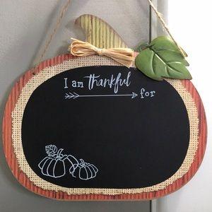 Chalkboard thankful sign
